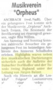 Presse Aschbach 2005
